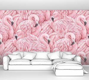 Орнамент из фламинго