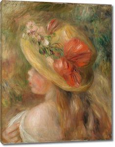 Пьер Огюст Ренуар. Молодая девушка в шляпе