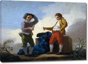 Кастильо Хосе дель. Мальчики играют в шары