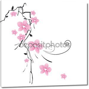 Фон с розовым цветком