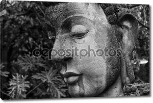 Голова Будды крупным планом