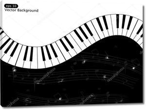 Музыкальный фон из клавиш