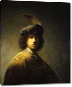 Рембрандт. Автопортрет в берете с пером