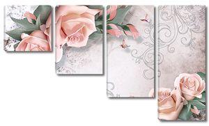 Гирлянда из розовых роз