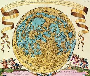 Интересная старая карта в виде круга