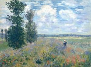 Моне Клод. Маковое Поле, Аржантей, 1875