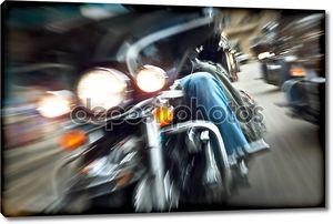 Абстрактный медленное движение, езда Мотоциклы байкеров