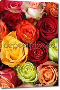 Букет из разных роз