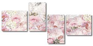 Розовые розы стилизация