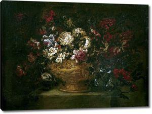Габриэль де ла Корте. Ваза с цветами