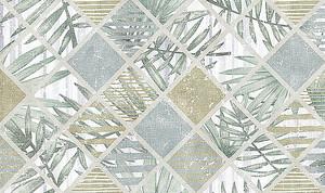 Плиточка с узором из листьев