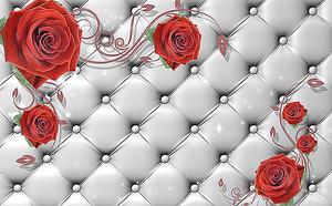 Розы по белой коже