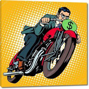 Бизнесмен на мотоцикле