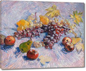 Ван гог.Натюрморт с яблоками, грушами, лимонами и Виноградом