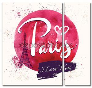 Иллюстрация с Эйфелевой башни Париж