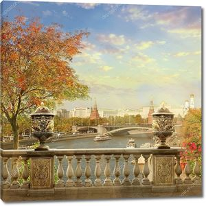 Вид на Кремль. Панорама Москвы