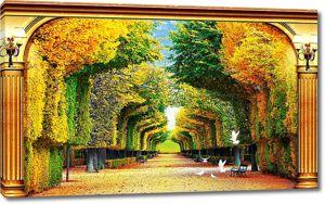 Фигурная аллейная арка