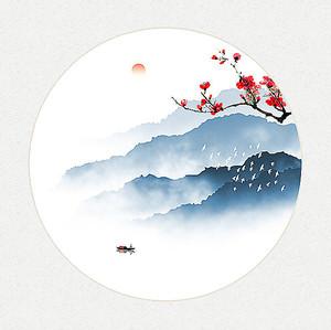 Японский пейзаж в кругу