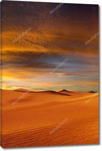 пустыня заката