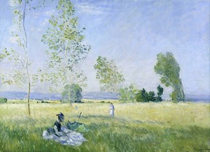 Моне Клод. Лето ( Луг в Безон ) , 1874