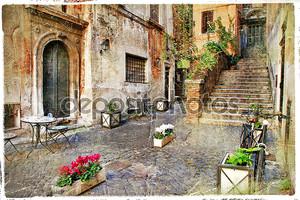 старые улицы Италии Италия. Рим