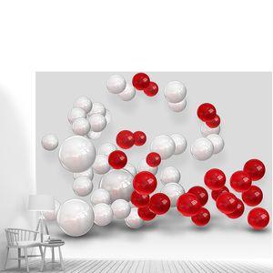 Абстракция из разноцаетных шаров