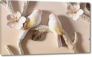 Птички на ветке сакуры