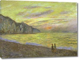 Моне Клод. Закат в городе Пурвиль, 1882