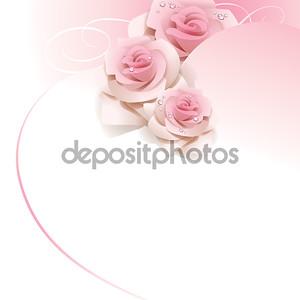 Свадьба фон с розовыми розами.