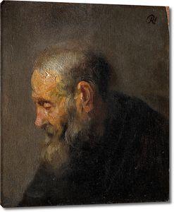 Рембрандт. Портрет пожилого мужчины в профиль (эскиз)
