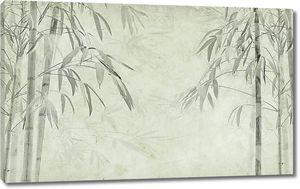Бамбук нарисованный