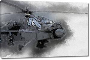 военный вертолет рисунок иллюстрации искусства винтаж