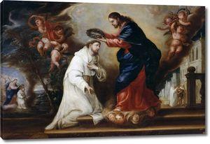 Диего Гонсалес де Вега. Святой Рамон Нонато венчается Христом