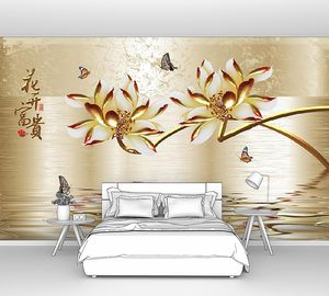Китайские цветы над водой