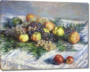 Моне Клод. Натюрморт с грушами и виноградом, 1880