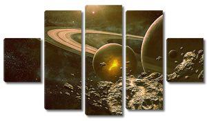 Планеты в сепии
