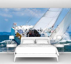 Шкипер sur voilier де regate