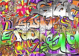 Граффити стены вектор абстрактный фон