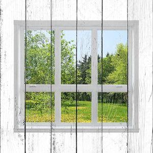 Весенний пейзаж, видели через окно