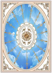 Небо через овальную рамку