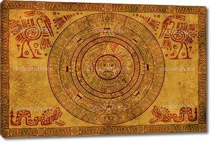 Календарь Майя на древнем пергаменте