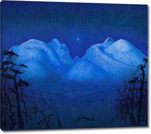 Харальд Сольберг. Зимняя ночь в горах