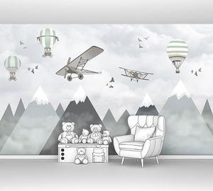 Аэропланы и шары над горами
