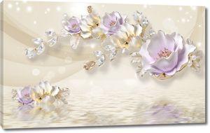 Фарфоровые цветы с водой