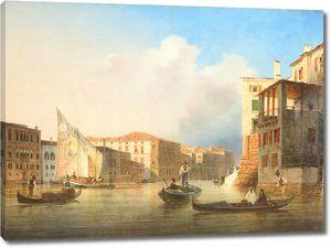 Ранним утром на набережной Венеции