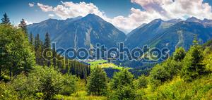 Панорама с перевала Gerlos