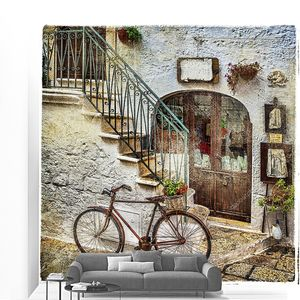 Старые улицы Италии с велосипедом