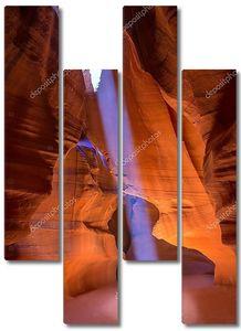 Каньон Антилопы Аризона на земле Навахо вблизи страницы
