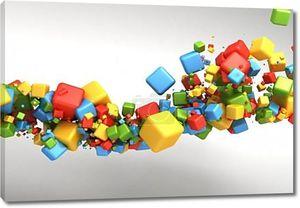 Абстрактный фон резноцветные кубы