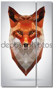 Глава Fox вектор изолированных геометрические современные иллюстрации